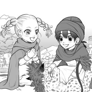 主人公とビアンカとボロンゴ